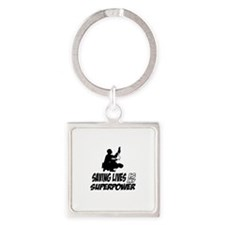 Saving lives is my Superpower Square Keychain