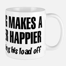 Nothing Happier Getting His Load Off Mug