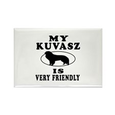My Kuvasz Is Very Friendly Rectangle Magnet (10 pa