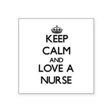 Keep Calm and Love a Nurse Sticker