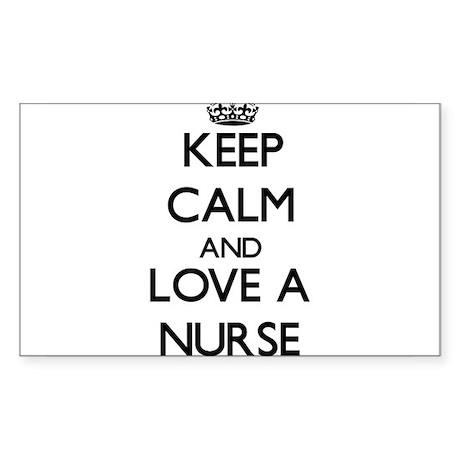 Keep Calm and Love a Nurse Sticker