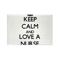 Keep Calm and Love a Nurse Magnets