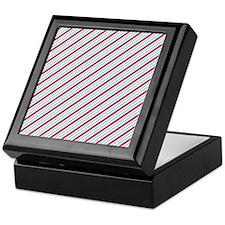 Red And Blue Diagonal Stripes Keepsake Box