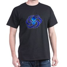 Blue Crop Circle T-Shirt