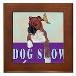 Boxer Puppy Framed Tile