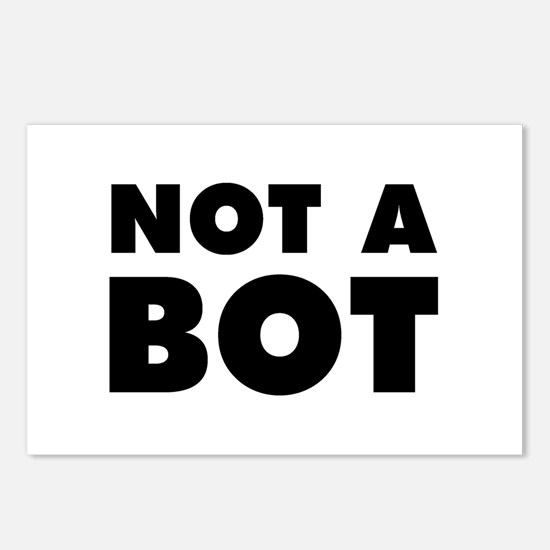 Not a Bot Postcards (Package of 8)
