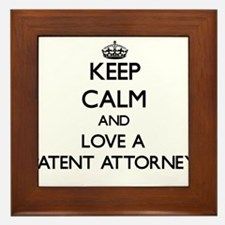 Keep Calm and Love a Patent Attorney Framed Tile