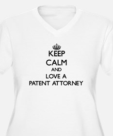 Keep Calm and Love a Patent Attorney Plus Size T-S