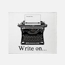 Write on Throw Blanket