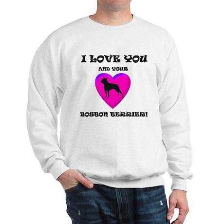 Valentine's Boston Terrier Sweatshirt