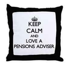 Keep Calm and Love a Pensions Adviser Throw Pillow
