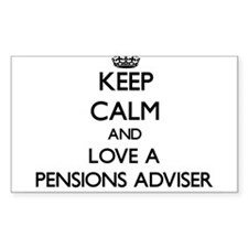 Keep Calm and Love a Pensions Adviser Decal