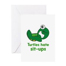 Turtles Hate Sit-Ups Greeting Card