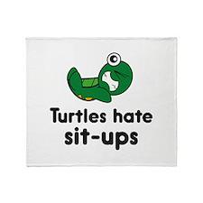 Turtles Hate Sit-Ups Stadium Blanket