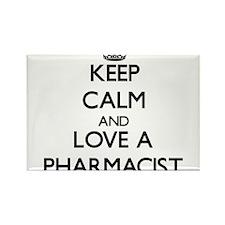 Keep Calm and Love a Pharmacist Magnets