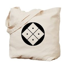 Tilted four-square-eyes in rice cake Tote Bag