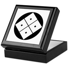 Tilted four-square-eyes in rice cake Keepsake Box