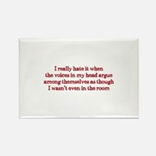 Voices In My Head Rectangle Magnet