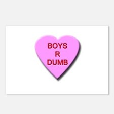 Boys R Dumb Postcards (Package of 8)