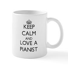 Keep Calm and Love a Pianist Mugs