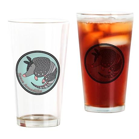 Spare Armadillo Drinking Glass