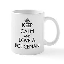 Keep Calm and Love a Policeman Mugs