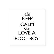 Keep Calm and Love a Pool Boy Sticker