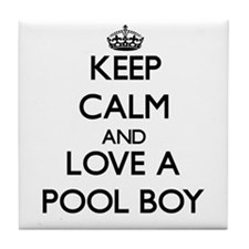 Keep Calm and Love a Pool Boy Tile Coaster