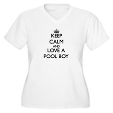 Keep Calm and Love a Pool Boy Plus Size T-Shirt