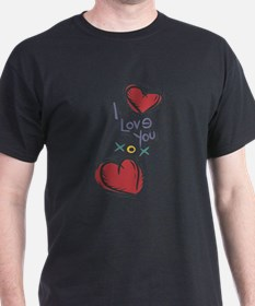 I Love You XOX Hearts T-Shirt