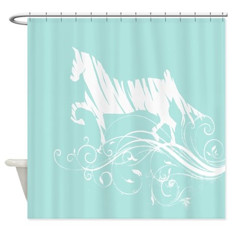 trotting horse shower curtain by paintingpony