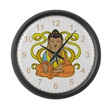 Buddha Flowing Energy Large Wall Clock