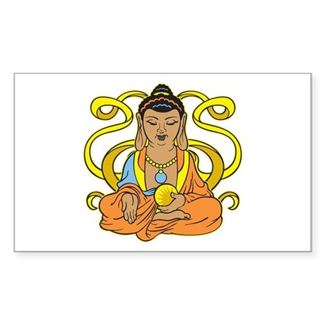 Buddha Flowing Energy Sticker (Rectangle 10 pk)
