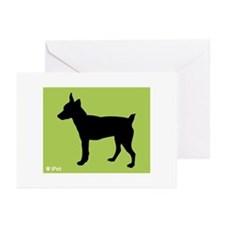 Rat Terrier iPet Greeting Cards (Pk of 10)