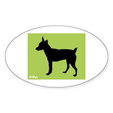 Rat Terrier iPet Oval Decal