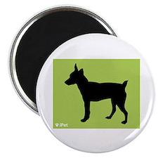 """Rat Terrier iPet 2.25"""" Magnet (10 pack)"""