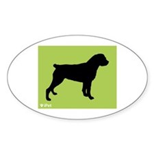 Rottweiler iPet Oval Decal