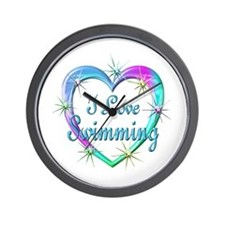 I Love Swimming Wall Clock