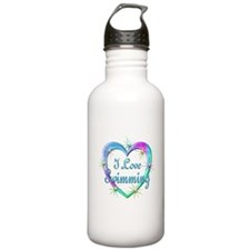 I Love Swimming Water Bottle