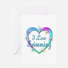 I Love Swimming Greeting Card