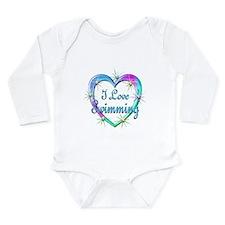 I Love Swimming Baby Suit