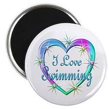 I Love Swimming Magnet