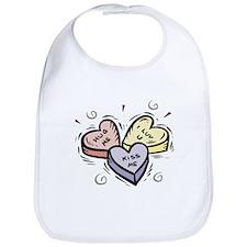 Valentine's Heart Candy Bib
