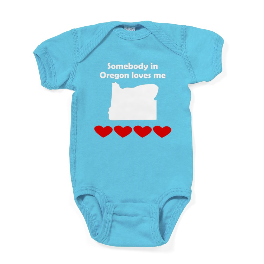 1005283712 CafePress Somebody In Oregon Loves Me Baby Bodysuit