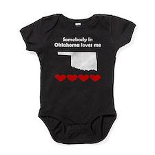 Somebody in Oklahoma Loves Me Baby Bodysuit