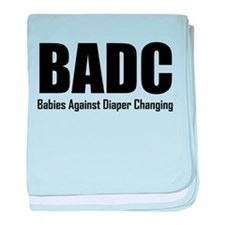 BADC Babies Against Diaper Changing baby blanket