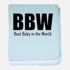 BBW Best Baby In The World baby blanket