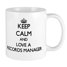 Keep Calm and Love a Records Manager Mugs