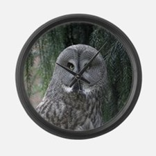 Owl002 Large Wall Clock