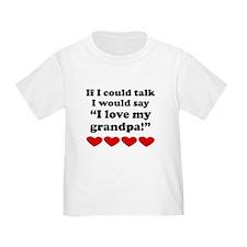 I Love My Grandpa T-Shirt